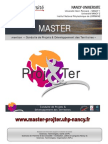 Plaquette MASTER ProjTer nancy