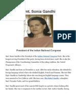 Smt. Sonia Gandhi