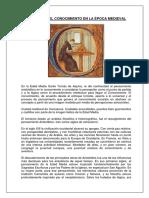 La Teoría Del Conocimiento en La Época Medieval