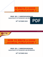 How to Write Good Journal Publication