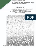 Kant, Critique de la raison pure, Analytique, II, 3