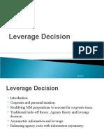 leverage decision MBA