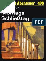 Das Neue Abenteuer 498 - Heinz Beck - Montags Schließtag