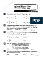 NSTSE Class 10 Solved Paper 2012