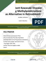 IVIg-Resistant Kawasaki Disease – Evaluating Methylprednisolone as Alternative