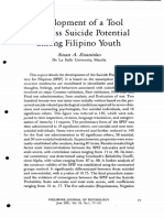 Development of a Tool to Assess Suicide Potential Among Filipino Youth