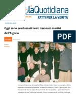 Proclamati Beati i Monaci Martiri Dell'Algeria