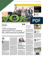 Yolanda Vaccaro entrevista Vocepresidenta de VOX, Mazaly Aguilar, en El Comercio 8-12-18