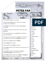 Peter Pan a Boy From Neverland Reading Comprehension Exercises 55883