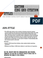 APA 6th Edition Referencing and Citation Styles