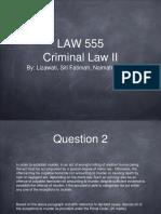 Presentation Criminal
