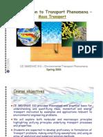 Lecture01 Spring05 Transfer Phenomena