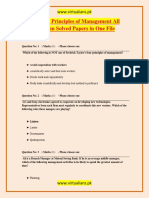 MGT503 Principles of Management All Midterm Solved Papers in One File