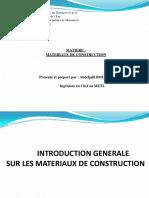 Chapitre 0 Introduction Generale