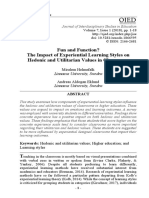 1 Miralem and Andreas -Fun and Function - The Impact of Experiential Learning Styles on Hedonic...