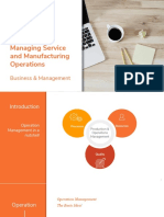 Managing Service and Manufacturing Operations