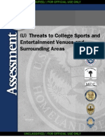 DHS Threats to college sports entertainment facilities
