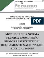 NORMA TÉCNICA E.030 DISEÑOSISMORRESISTENTE DEL REGLAMENTO NACIONAL DE EDIFICACIONES (2018)