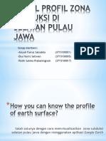 Model Profil Zona Subduksi Di Selatan Pulau Jawa