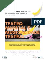 Colóquio 'Teatro musical e Musicalidade teatral' 2018