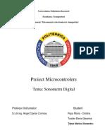 Proiect Micro Masurarea Intensitati Sonore