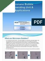 Micronano Bubble Unit Info TH2