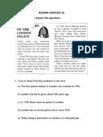 READING LONDON POLICE