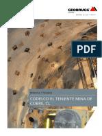 MESHA Codelco El Teniente Mina de Cobre 2016 L ES 76618