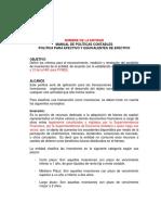9 1 2 Modelo Política de Inversiones