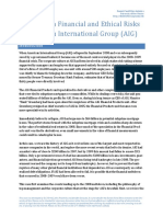 Coping With Financial and Ethical Risks at American International Group Aig