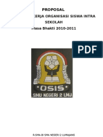 Proposal Program Kerja OSIS 2010-2011