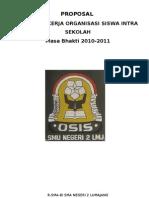 Proposal Program Kerja OSIS 2010-2011