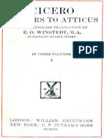 Cicero Letters to Atticus, v. I by Marcus Tullius Cicero