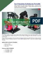 Pompa Waterax Mini Striker