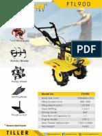 Firman Hand Tractor Ftl-900