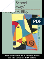 (Educational Change and Development Series) Kathryn Riley-Whose School is It Anyway__ Power and Politics -Routledge (1998)