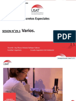 Sesion 29.1.- Concretos Especiales Varios