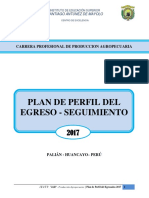Plan de Perfil Del Egreso