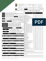 Pathfinder RPG - Ficha de Personagem - Biblioteca Élfica