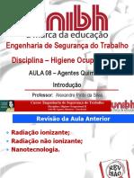 Aula 08 Agentes Qumicos Introduo PsGraduao UNI BH EST Estoril HO2 T03 (1)