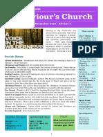 st saviours newsletter - 9 december 2018