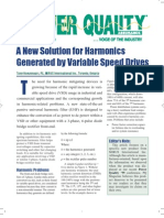 Power Quality New Solution for Harmonics Generated by Variable Speed Drives