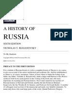 Nicholas v. Riasanovsky - A History of Russia