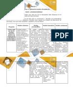 Anexo 1 - Paso 3 - Aplicación modelos disciplinares