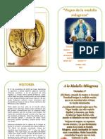 Diptico de La Virgen de La Medalla Milagrosa