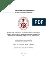 IDENTIFICACIÓN DE PROTOZOARIOS, ROTÍFEROS, MICROCRUSTÁCEOS, HONGOS, GUSANO TUBIFEX, MOSCA PHYCODA, LARVAS DE INSECTOS, ARTRÓPODOS, HELMINTOS, PLANTAS ACUÁTICAS, PECES Y VIRUS-Cuarto Laboratorio de Microbiología Saniataria II