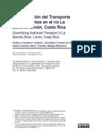 Transporte de sedimentos en Costa Rica