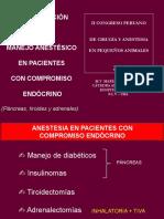 Anestesia en Pacientes con compromiso Endocrino