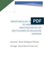 Importancia Deldesarrollo de Habilidades de Investigacion en Las Instituciones de Educacion Superior