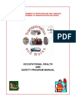 Occupational Health and Safety Program Manual Dept of Transportation and Works